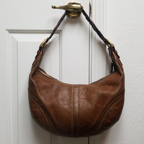 coach bags large vintage brown purse leather hobo bag poshmark rh poshmark com